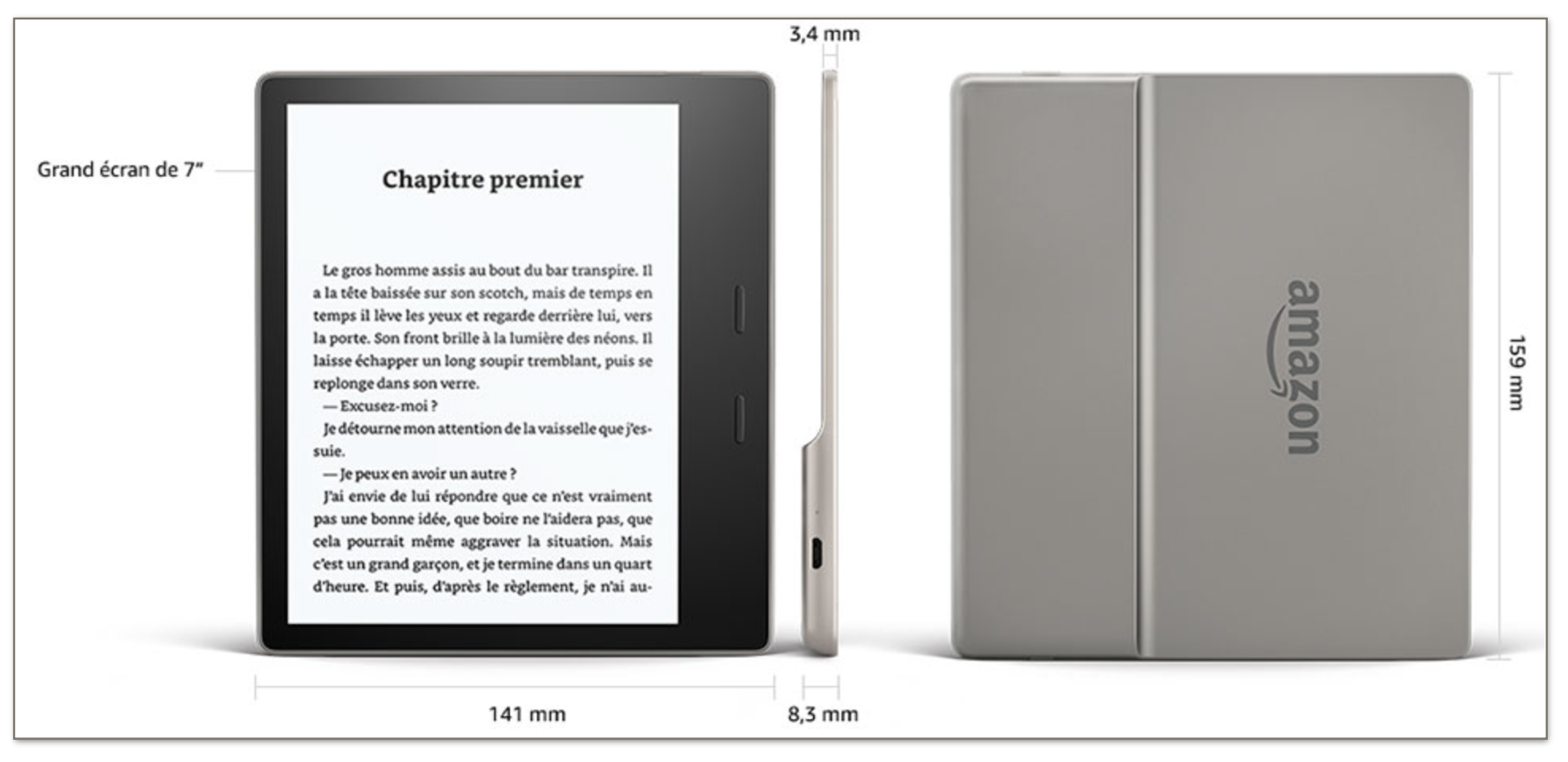 kindle oasis pour voyager