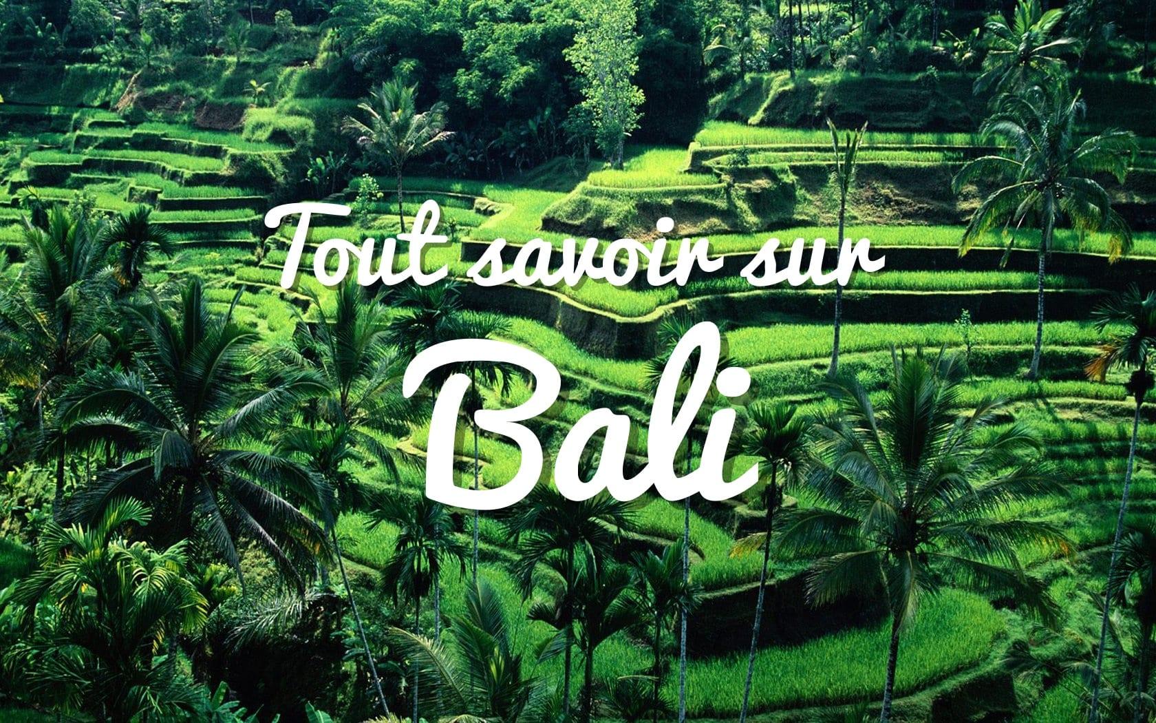 voyage à Bali en Indonésie, tout savoir