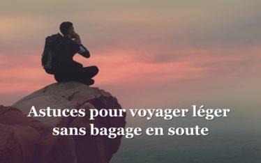 voyager léger et sans bagage en soute