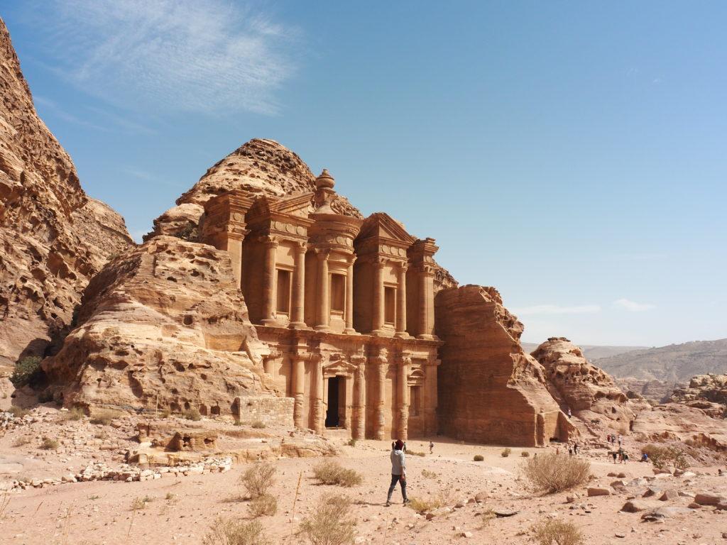 Le monastère, pétri Jordanie