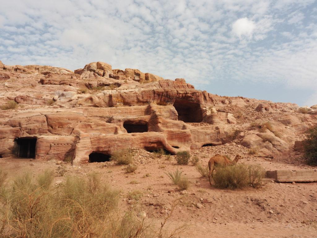 héritage des temps passé de Petra en Jordanie