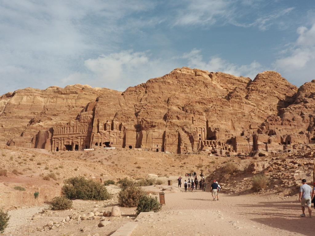 ruine à Pétra en jordanie