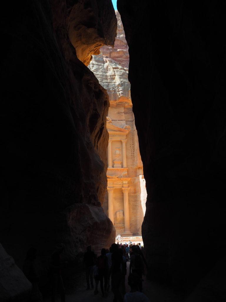 canyon kazneh pétra jordanie