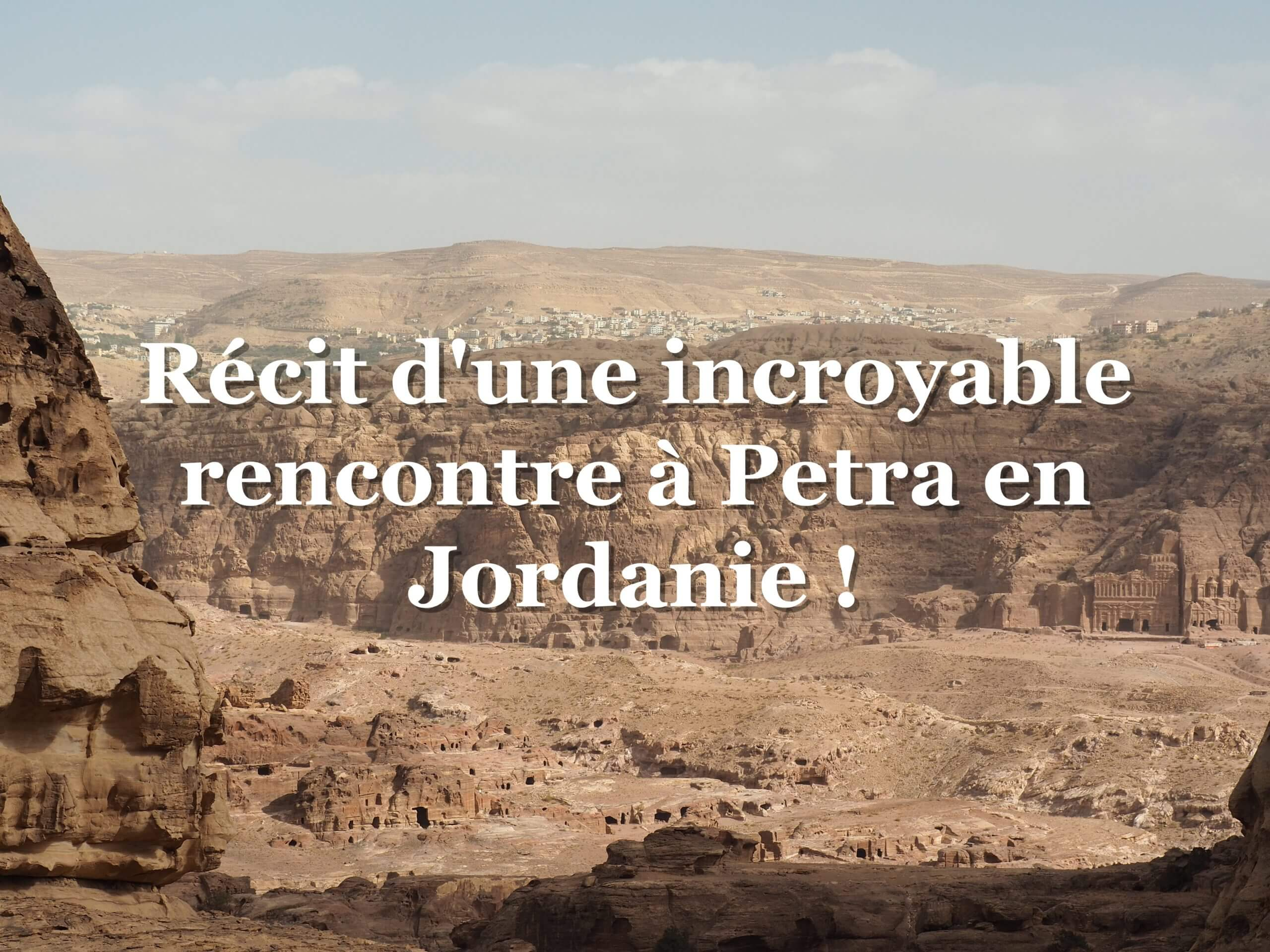 rencontre à petra en Jordanie