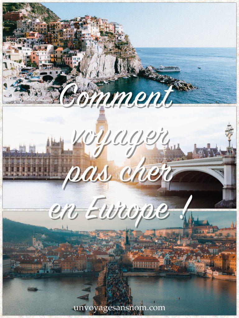 voyager pas cher en europe c'est possible, aussi valable pour un weekend pas cher europe