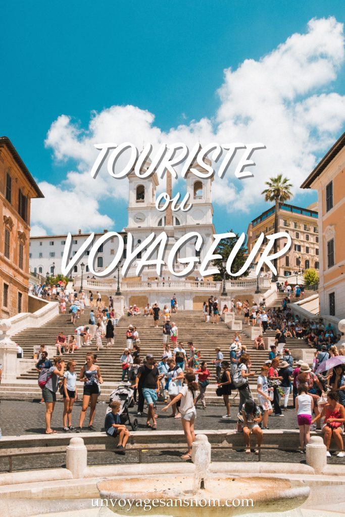 touriste ou voyageur autour du monde