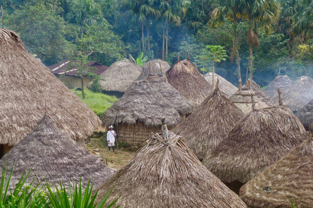 la sécurité en Colombie, habitation traditionnel sierra nevada