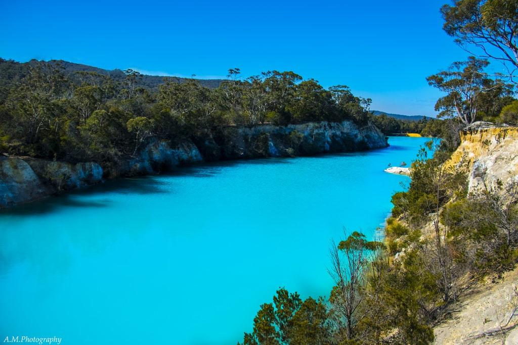 little blue lake, nord tasmanie
