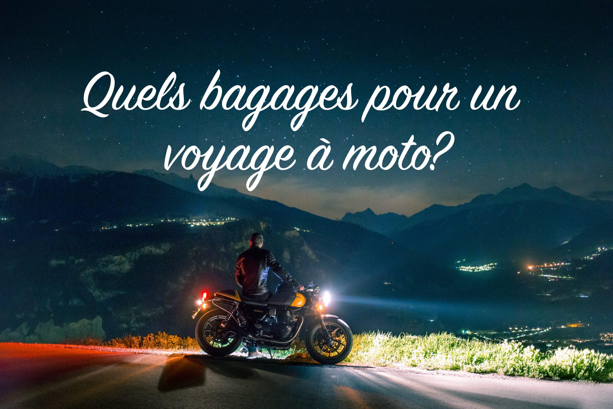 quels bagages pour un voyage à moto